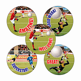 Football Stickers (70 Stickers - 25mm)