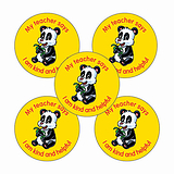 Sheet of 70 Kind & Helpful Panda 25mm Stickers