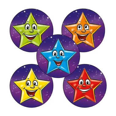 Star Stickers (70 Stickers - 25mm)