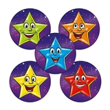 Sheet of 70 Mixed Coloured Stars 25mm Stickers