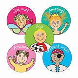 Pedagogs Stickers (70 Stickers - 25mm)
