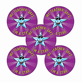 Teacher Says I'm a Star Stickers (70 Stickers - 25mm)