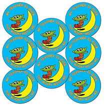 'My Teacher is Over the Moon with Me' 25mm Stickers x 70