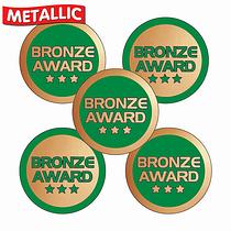 Metallic Bronze Award Stickers (70 Stickers - 25mm)