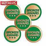 Sheet of 70 Mixed Bronze Award 25mm Stickers