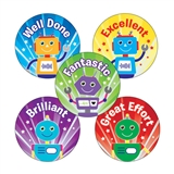 Mixed Wording Robots Stickers (70 Stickers - 25mm)