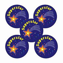 Superstar Stickers (70 Stickers - 25mm)