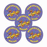 Sheet of 70 Marvellous Maths 25mm Stickers