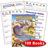 Box of 100 Dinosaur Themed 88 Page A5 Home School Record Bk