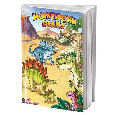 Homework Diary - Dinosaur (A5 - 104 Pages)