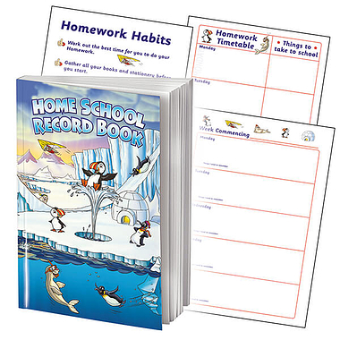 Polar Themed 88 Page A5 Home School Record Book