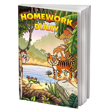 Jungle Themed 104 Page A5 Homework Diary