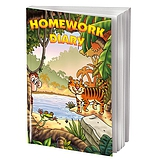 Homework Diary - Jungle (A5 - 104 Pages)