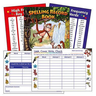 Spelling Record Book - Jungle (A5 - 56 Pages)