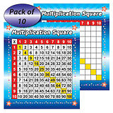 Multiplication Grid Squares (10 Cards - 160mm x 140mm)