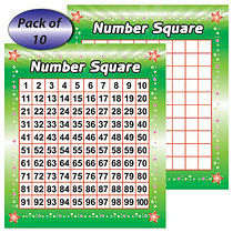 Pack of 10 Number Squares 160mm x 140mm