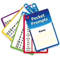 Times Tables and Key Words Pupil Cards BACK IN STOCK IN APRIL  - Pocket Prompts