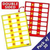 Multiplication & Division Tables Sum Pupil CARDS (A6) Dry Wipe x 30 in a class pack