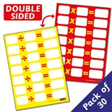 A6 Dry Wipe Number Facts Multipication & Division Cards x 30