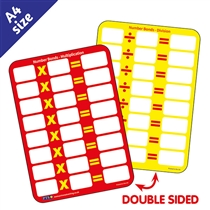 Multiplication and Division Practice Dry Wipe Card (A6)