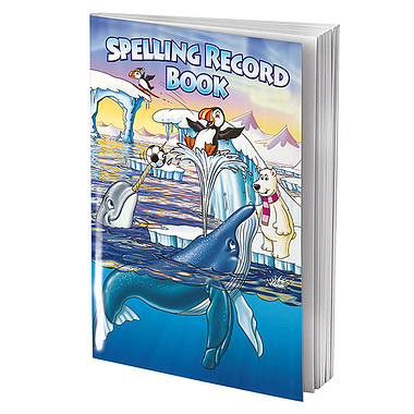 Polar Themed 56 Page Spelling Record Book