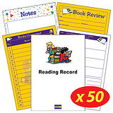 Box of 50 Children Theme Reading Record Books