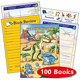 Box of 100 Dinosaur Themed 40 Page Reading Record Book