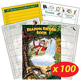 Box of 100 Jungle Themed 40 Page Reading Record Books