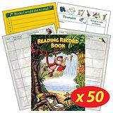 Box of 50 Jungle Themed 40 Page Reading Record Books
