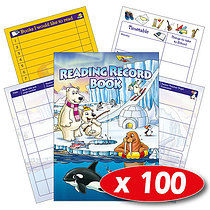 Box of 100 Polar Theme Reading Record Book
