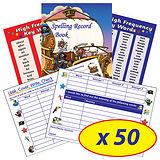 Spelling Record Books - Pirates (50 Books Included)