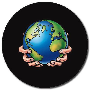 Personalised Globe Stickers (35 per sheet - 37mm)