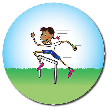 Personalised Sports Stickers -  Girl (35 per sheet - 37mm)