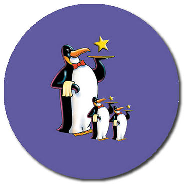 Personalised Penguins Stickers (35 per sheet - 37mm)