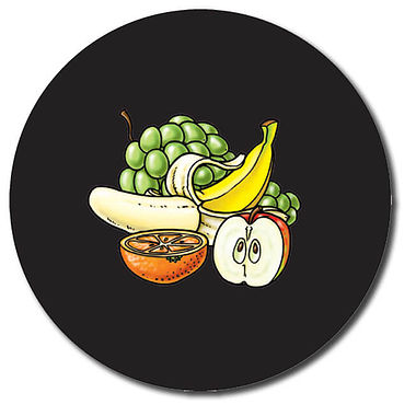 Personalised Fruit Stickers (35 per sheet - 37mm)