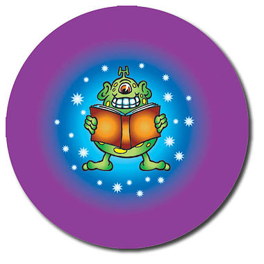 Personalised Alien Reading Stickers (35 per sheet - 37mm)