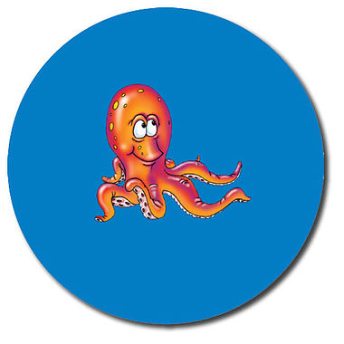 Personalised Octopus Stickers (35 per sheet - 37mm)