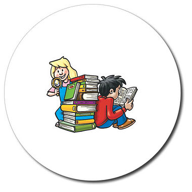 Personalised Children Reading Stickers (35 per sheet - 37mm)