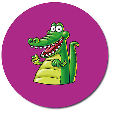 Personalised Crocodile Stickers (35 per sheet - 37mm)