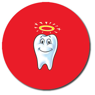 Personalised Tooth Stickers (35 per sheet - 37mm)