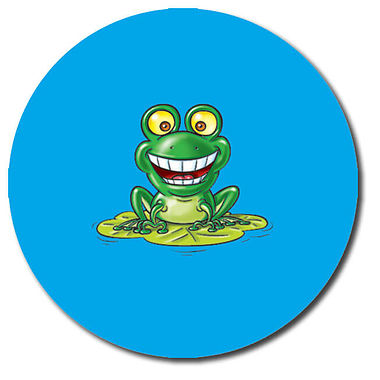 Personalised Frog Stickers  (35 per sheet - 37mm)