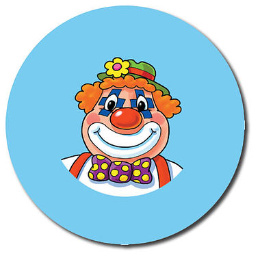 Personalised Clown Stickers (35 per sheet - 37mm)