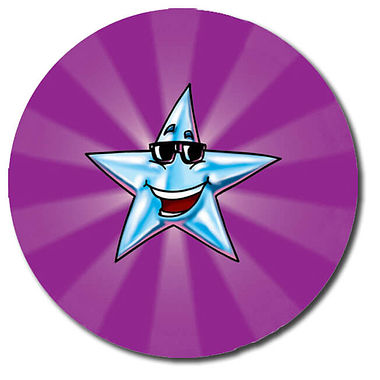 Personalised Star Stickers - Rays (35 per sheet - 37mm)