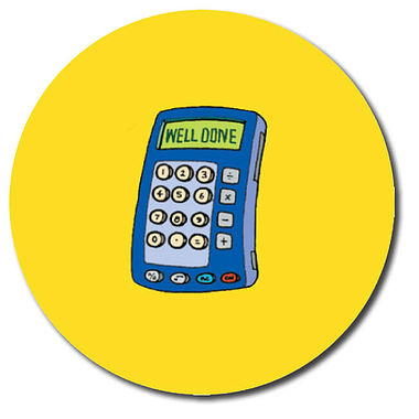 Personalised Calculator Stickers (35 per sheet - 37mm)
