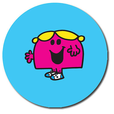Personalised Little Miss Stickers (35 per sheet - 37mm)