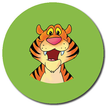 Personalised Tiger Stickers (35 per sheet - 37mm)