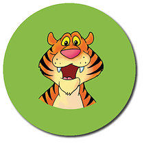 Sheet of 35 Personalised 37mm Tiger Stickers