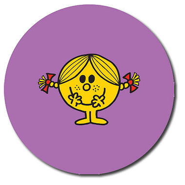 Personalised Little Miss Stickers - Little Miss Sunshine (35 per sheet - 37mm)
