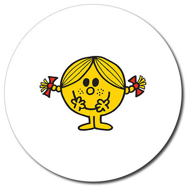 Personalised Little Miss Sunshine Stickers (35 per sheet - 37mm)