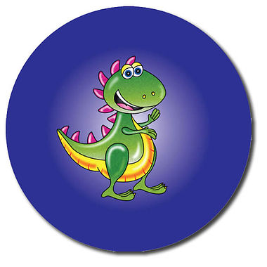 Personalised Dinosaur Stickers - T.Rex (35 per sheet - 37mm)